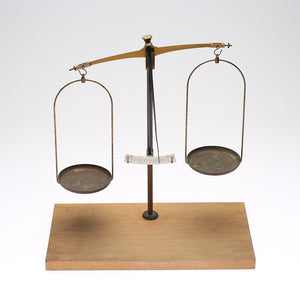 Brass and steel weighing scales