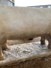 Load image into Gallery viewer, Huge plaster model of a Charolais bull