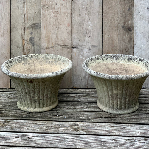 Pair of reconstituted stone planters