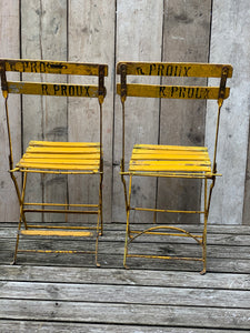Pair of Left Bank folding chairs