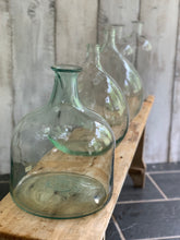 Load image into Gallery viewer, Selection of 6, hand blown glass bottles