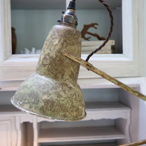 Vintage 1970's Herbert Terry camouflage anglepoise lamp