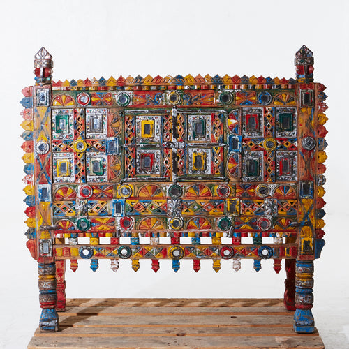 Wonderful Indian polychrome cabinet