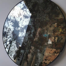 Load image into Gallery viewer, Vintage convex mercury glass mirror
