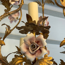 Load image into Gallery viewer, Wonderful French chandelier with china roses