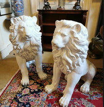 Load image into Gallery viewer, Great pair of plaster lions