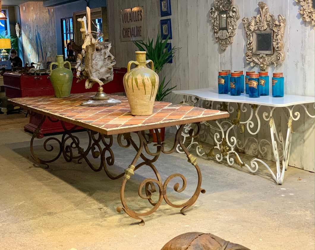 Large Catalan garden table