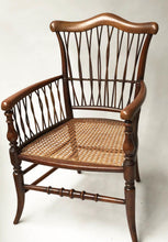 Load image into Gallery viewer, 19th century fruitwood armchair