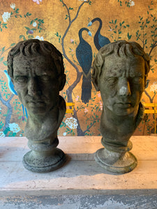 Pair of very handsome Roman heads