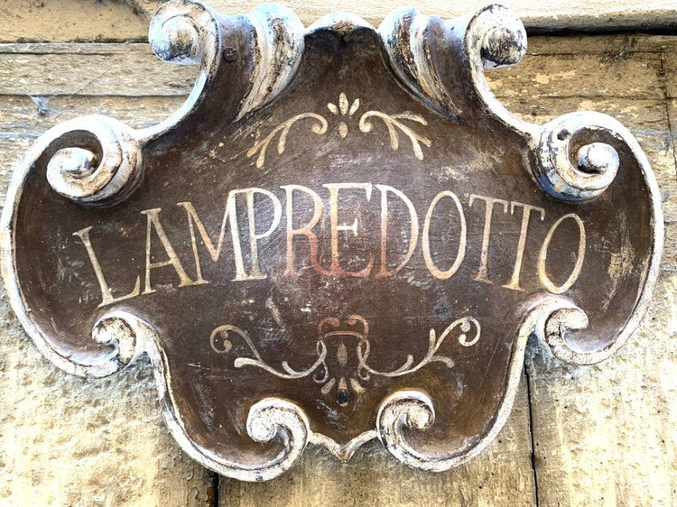 Beautiful 19th century shop sign from Palermo Sicily