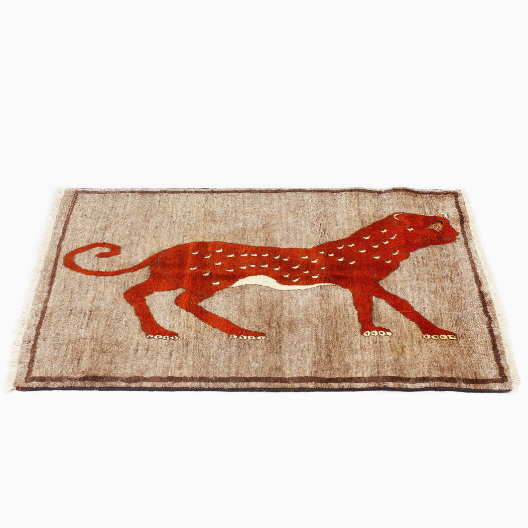 Gabbeh rug with leopard design