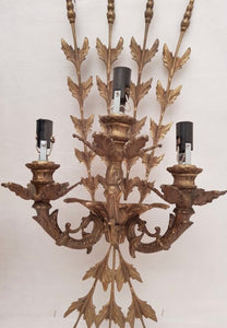 Beautiful pair of 1970's Bronze Italian appliqués