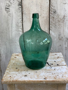 Selection of 6, hand blown glass bottles