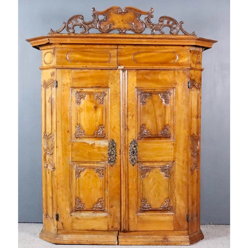 18th century fruitwood airmoire