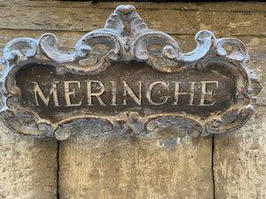 Beautiful shop sign from Palermo Silcily