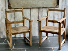Load image into Gallery viewer, Pair of wooden French chairs