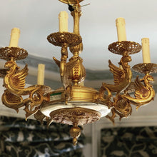 Load image into Gallery viewer, Italian 8 lamp chandelier