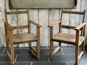 Pair of wooden French chairs