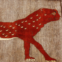 Load image into Gallery viewer, Gabbeh rug with leopard design
