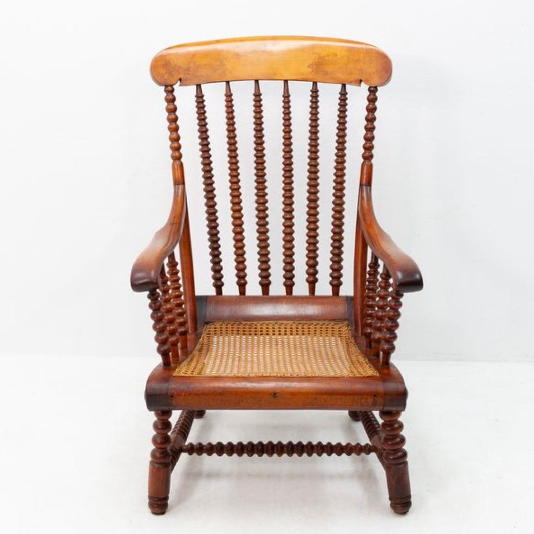 Bobbin turned armchair from 1900