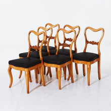 Load image into Gallery viewer, Set of 6 Swedish oak chairs