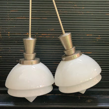 Load image into Gallery viewer, Pair of Art Deco Opaline pendant lamps
