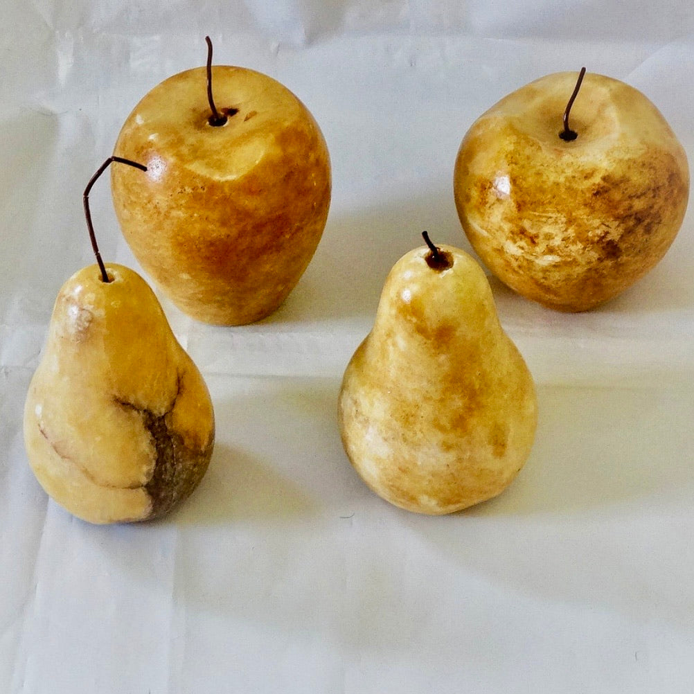 Marble apples and pears - priced individually