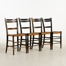 Load image into Gallery viewer, Set of 4 French cafe chairs in original paint