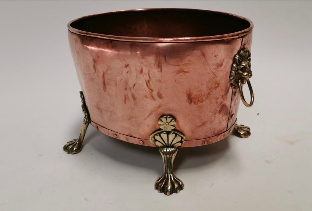 Copper log basket
