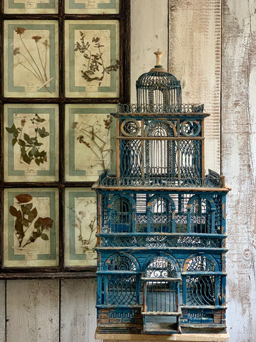Wonderful 19th century Sicilian bird cage
