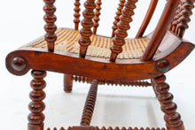 Load image into Gallery viewer, Bobbin turned armchair from 1900