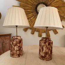 Load image into Gallery viewer, Pair of hand painted Italian lamps