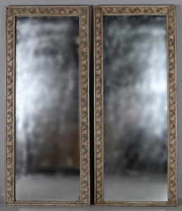 Beautiful pair of 19th century pier glass mirrors
