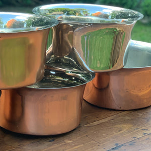 Copper sinks for use as planters