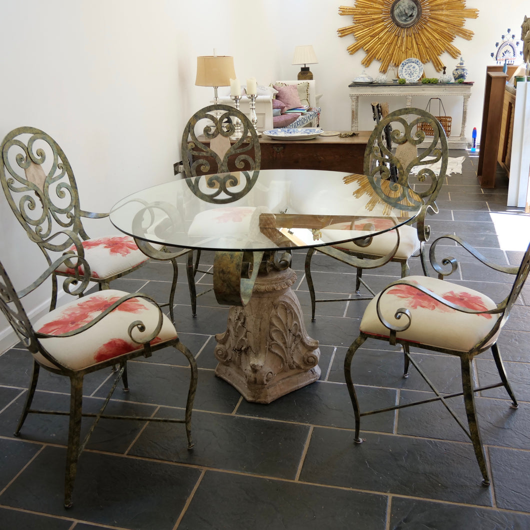 Contemporary conservatory table and chairs