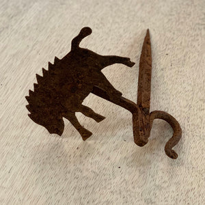 Set of Folk art animal wall hooks