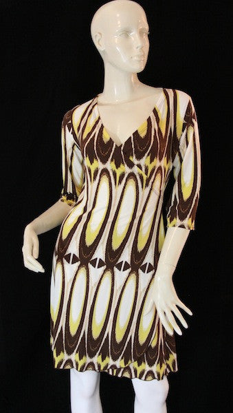 Retro Faux Wrap Dress