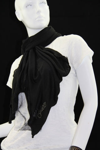 Black Hatchi Scarf