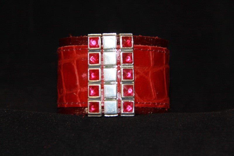 BLING Cuff Accessory - Silver with Colored CZ