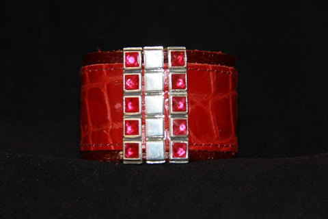 BLING Cuff Accessory - Silver with Colored CZ's