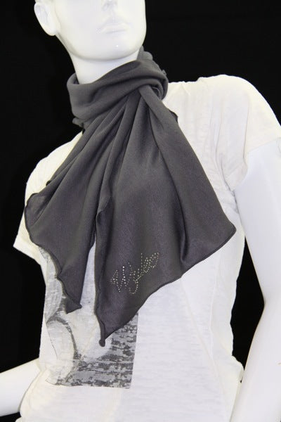 Mini Grey Hatchi Scarf