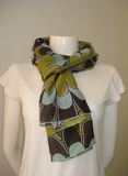 Olive Flowers Scarf