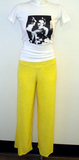 Lemon Twist Terry Cloth Pants
