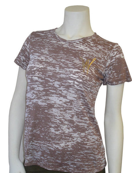 Wylee Burn Out Crew Neck T (Brown)