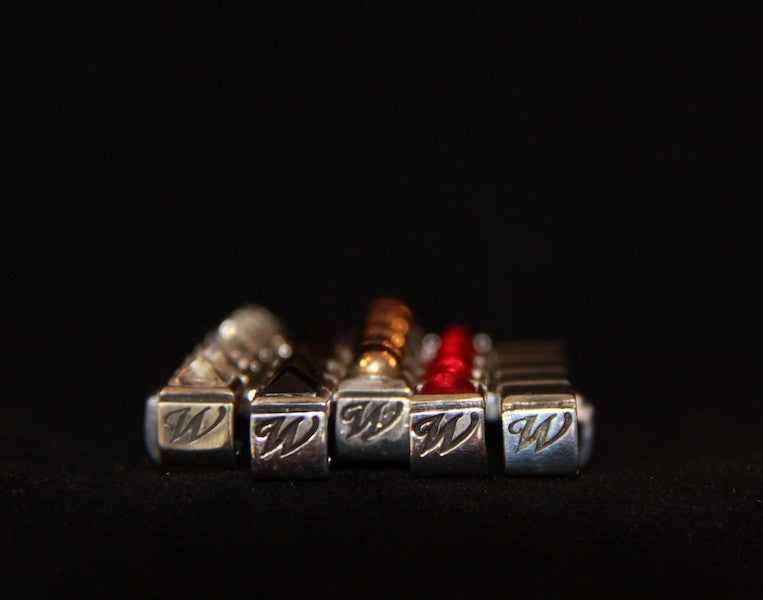 BLING Cuff Accessory - Silver with Solid Bronze Beads