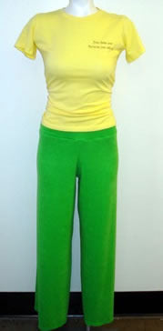 Key Lime Terry Cloth Pants