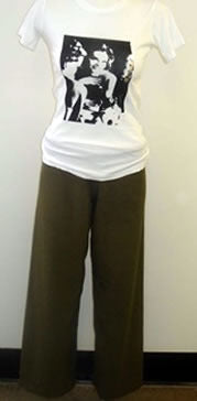 Olive Green Terry Cloth Pants