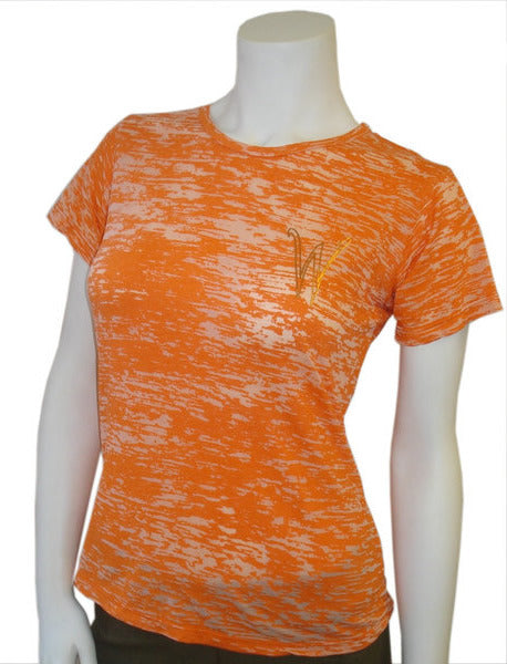 Wylee Burn Out Crew Neck T (Orange)
