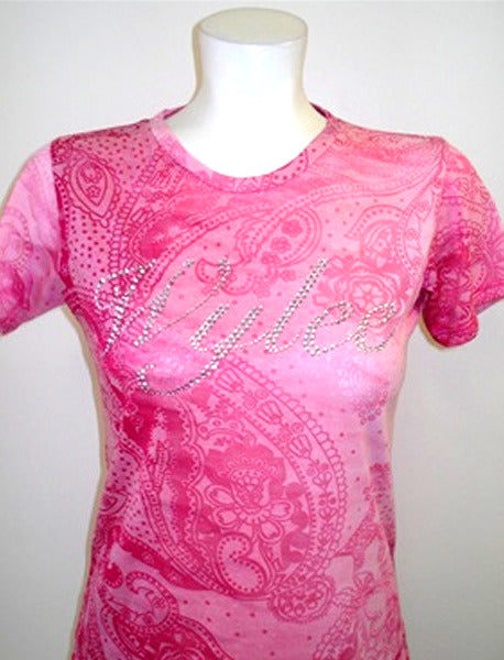 Wylee Stone Burn Out T (Pink / Red)