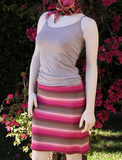 Pink Stripe Terry Skirt